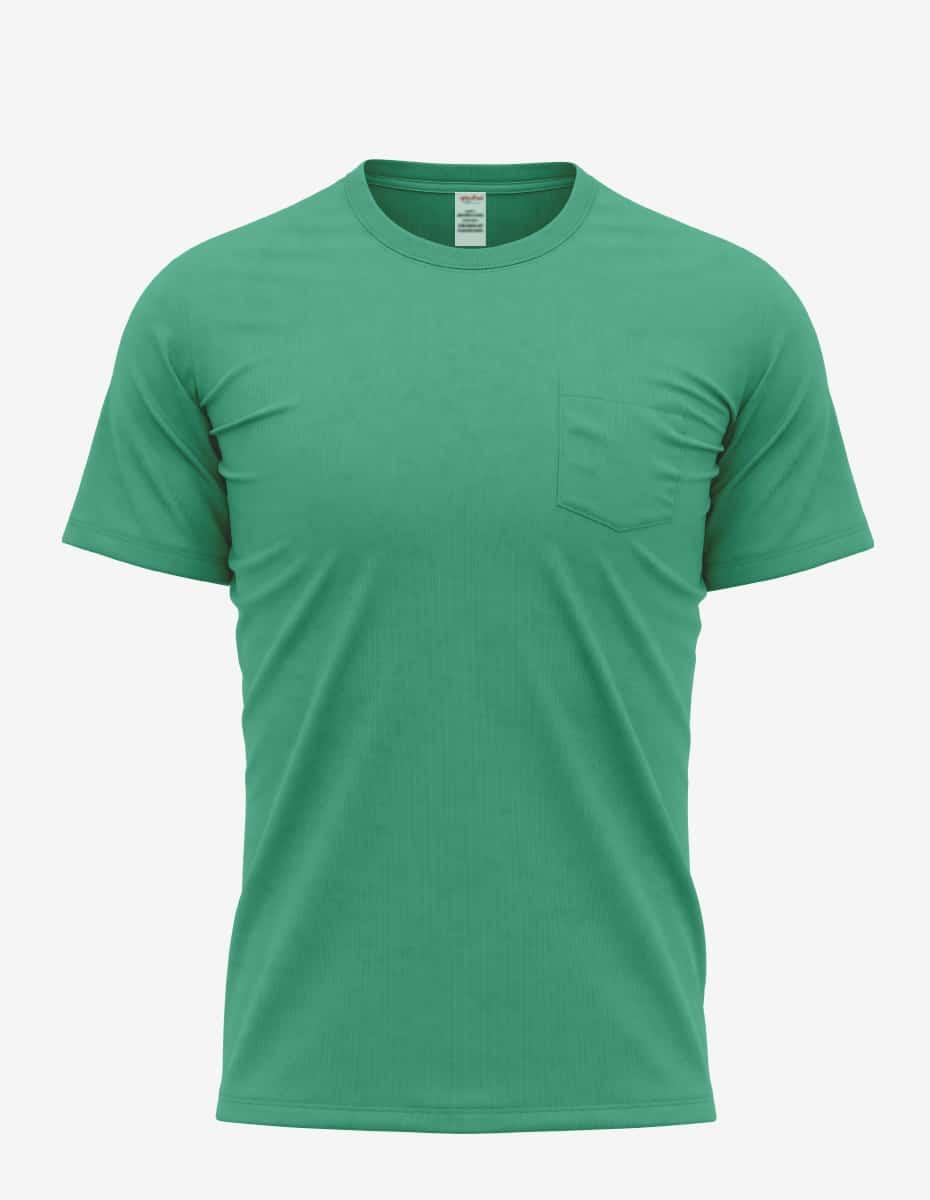 30spkt kelly heather front, Bulk Bi-blend Nerd Pocket T-shirt